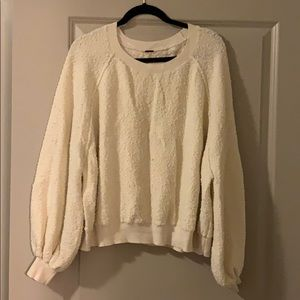 Free People Bubble Sleeve Sweater